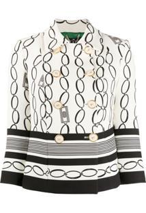 Elisabetta Franchi Chain Print Jacket - Neutro