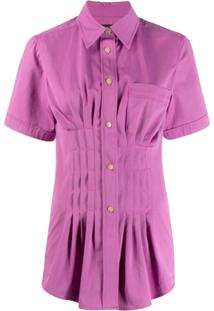 Isabel Marant Cinched Pleated Blouse - Rosa