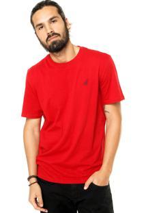 Camiseta Nautica Logo Vermelha