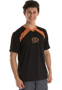 Camiseta Konciny Decote V Dry Fit Preto