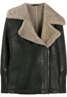 Salvatore Santoro Panelled Zip-Up Jacket - Preto