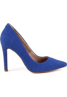 Scarpin Paula Brazil Eliz Nobuck - Feminino-Azul