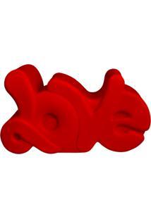 Luminária Casa Da Mãe Joana Escrito Love Vermelha