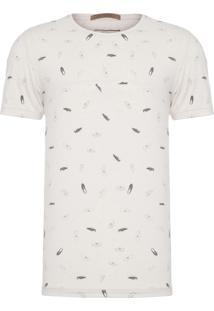 T-Shirt Masculina Mini Icons Tênis - Bege