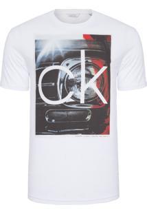 Camiseta Masculina Regular Com Estampa Farol - Branco