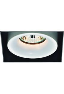 Spot Aro No Frame Alum 9,1Cmx9,1Cmx11,5Cm 1Xmr16 50W - Br/Pt - Ns1029