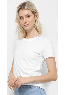 Camiseta T-Shirt Calvin Klein Basic Feminina - Feminino-Branco