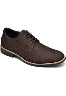 Sapato Casual Em Couro D&R Shoes Masculino - Masculino-Café