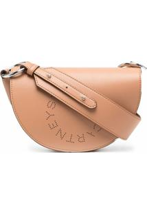 Stella Mccartney Mini Marlee Logo Shoulder Bag - Marrom