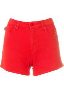 Love Moschino Short Jeans - Vermelho