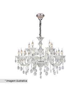 Lustre Maria Thereza- Cristal & Inox- 70X60X58Cmhevvy
