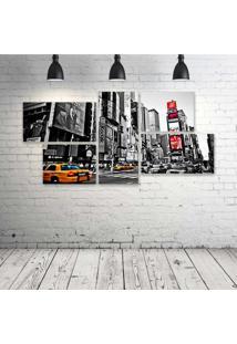 Quadro Decorativo - New-York-City-(2) - Composto De 5 Quadros - Multicolorido - Dafiti