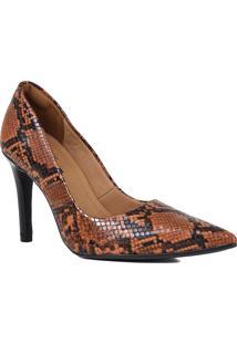 Sapato Zariff Scarpin Salto Fino Animal Print