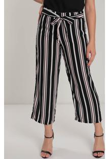 Calça Pantalona Feminina Facinelli Listrada