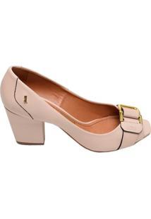 Sapato Feminino Salto Médio Santa Lolla Nude
