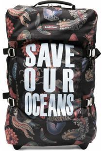 Eastpak Mala De Rodinhas Save Our Oceans - Preto