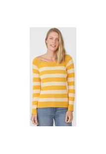 Blusa Hering Tricot Listrada Amarela