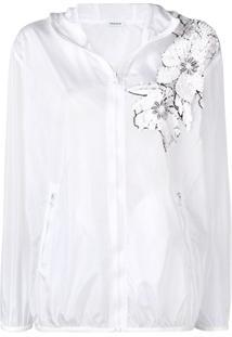 P.A.R.O.S.H. Jaqueta Com Aplicação Floral - Branco
