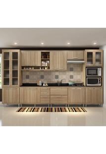 Cozinha Completa Com Tampo 17 Portas 9 Peças Sicília Multimóveis Argila