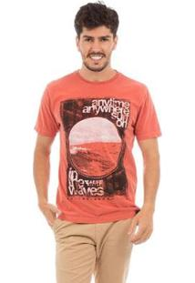 Camiseta Aes 1975 Sun In The Waves Masculina - Masculino-Laranja