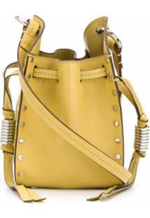 Isabel Marant Bolsa Com Cordão De Ajuste E Tachas - Amarelo