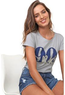 Camiseta Roxy Lettering Cinza