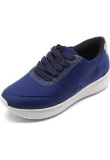 Tênis Usaflex Liso Azul