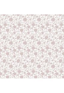 Papel De Parede Arabescos Florais- Rosa & Bege Claroshark Metais