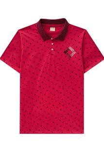 Camiseta Pai-Filhos Milon Vermelho
