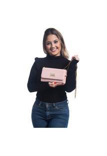 Bolsa Willibags Transversal Clutch Rosa