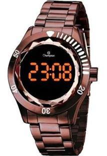 Relógio Champion Digital Ch48073R Feminino - Feminino-Marrom