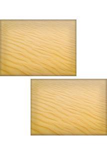 Jogo Americano Colours Creative Photo Decor - Textura De Areia - 2 Peças