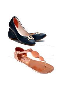 Kit 3 Pares Sapatilha Estilo Shoes Casual Rosa