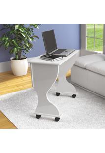 Mesa Para Computador Dobravel C27 Bb Branco Brilho - Dalla Costa
