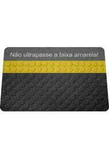 Capacho Ecológico Não Ultrapasse A Faixa Amarela Geek10 - Multicolorido