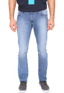 Calça Jeans Volcom Slim Vorta Azul
