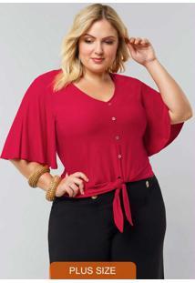 Blusa Malha Vermelho