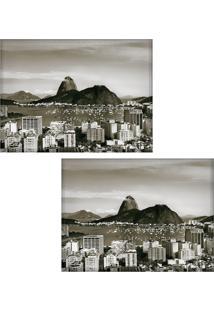 Jogo Americano Colours Creative Photo Decor - Vista Do Pão De Açúcar No Rio De Janeiro, Rj - 2 Peças