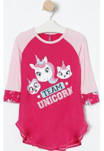 Camisola Unicórnio- Pink & Rosa Claro- Puketpuket