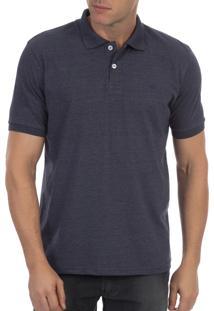 Camisa Polo Colombo Azul Lisa