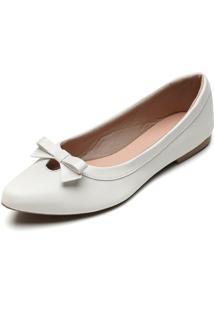 Sapatilha Dafiti Shoes Laã§O Off-White - Off-White - Feminino - Dafiti