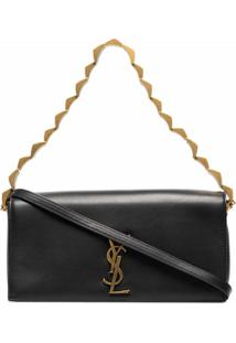 Saint Laurent Black Kate 99 Baguette Leather Shoulder Bag - Preto