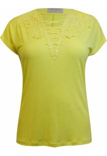 Blusa Pau A Pique Lisa - Feminino-Amarelo