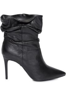 Bota Feminina Soft Leather - Preto