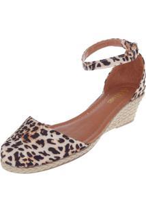 Scarpin Dafiti Shoes Anabela Bege/Preto