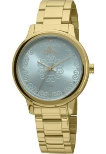 R  139,93. Zattini Relógio Feminino Verde Dourado Allora ... 1e0d089ab2