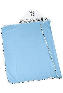 Lepper Toalha De Banho Com Capuz Panda Azul & Branca 75X90Cm