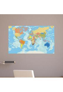 Adesivo Mapa Mundi Geopolítico