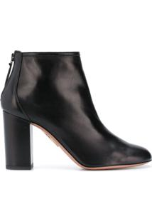 Aquazzura Ankle Boot 'Downtown 90' De Couro - Preto