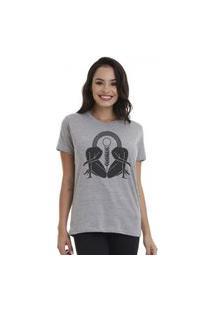 Camiseta Jay Jay Basica Sun Cinza Mescla Dtg